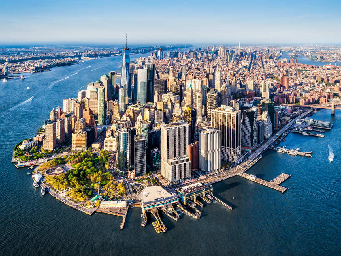 Aerial view of Lower Manhattan