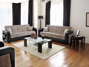 West Jordan Living Room with Vinyl Floors
