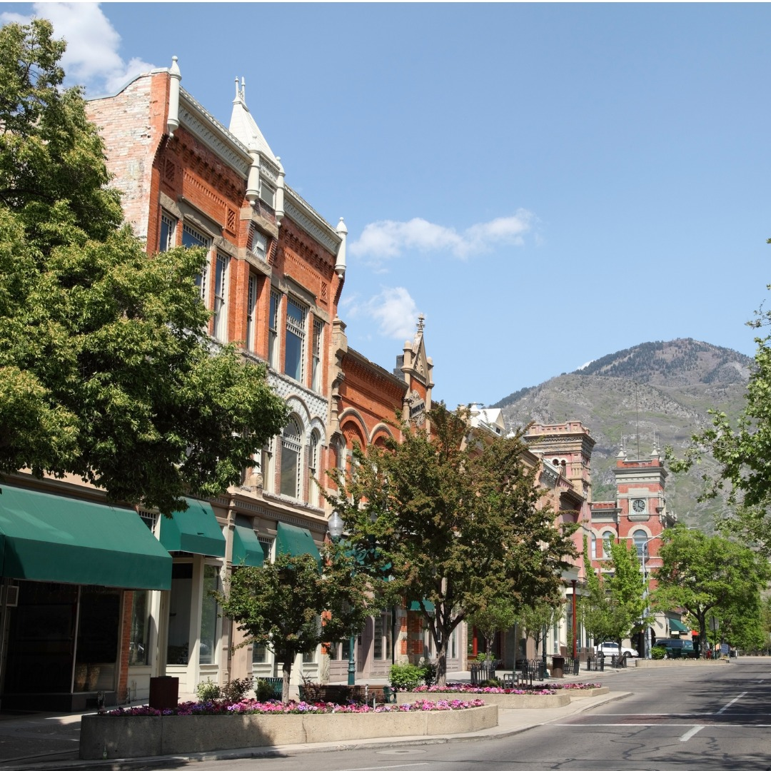 Downtown Provo, Utah, in the summer