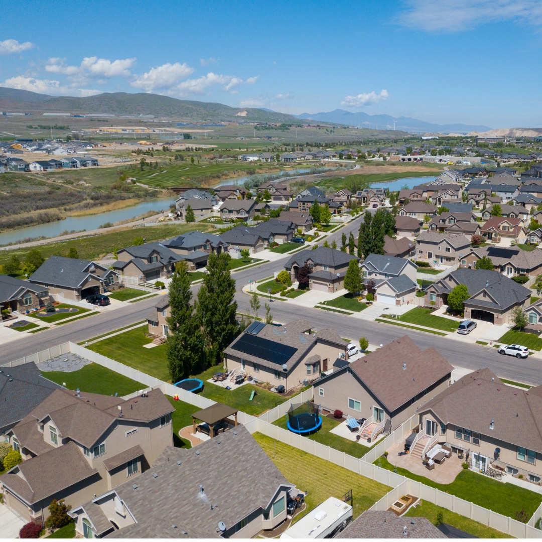 Aerial photo of Salt Lake City, Utah, suburbs