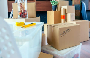Stack of Labeled Boxes for Tenants Who are Moving Out of Your Southampton Rental Property