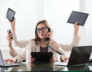 Levittown Multitasking Businesswoman