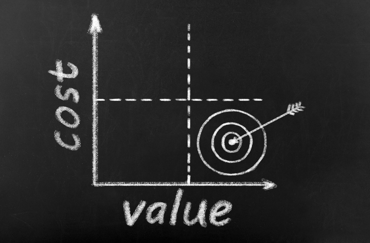 A Graph Comparing Cost and Value
