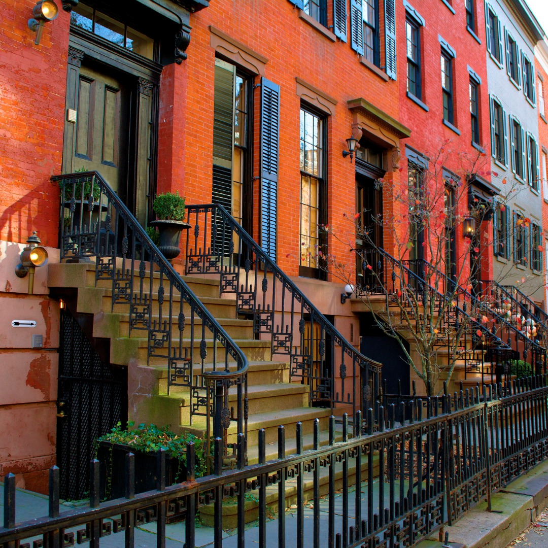 A Row of Houses in Greenwich Village NY