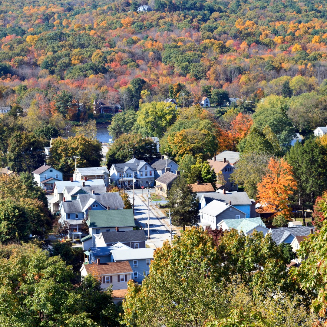 Autumn in a Small Town in New York