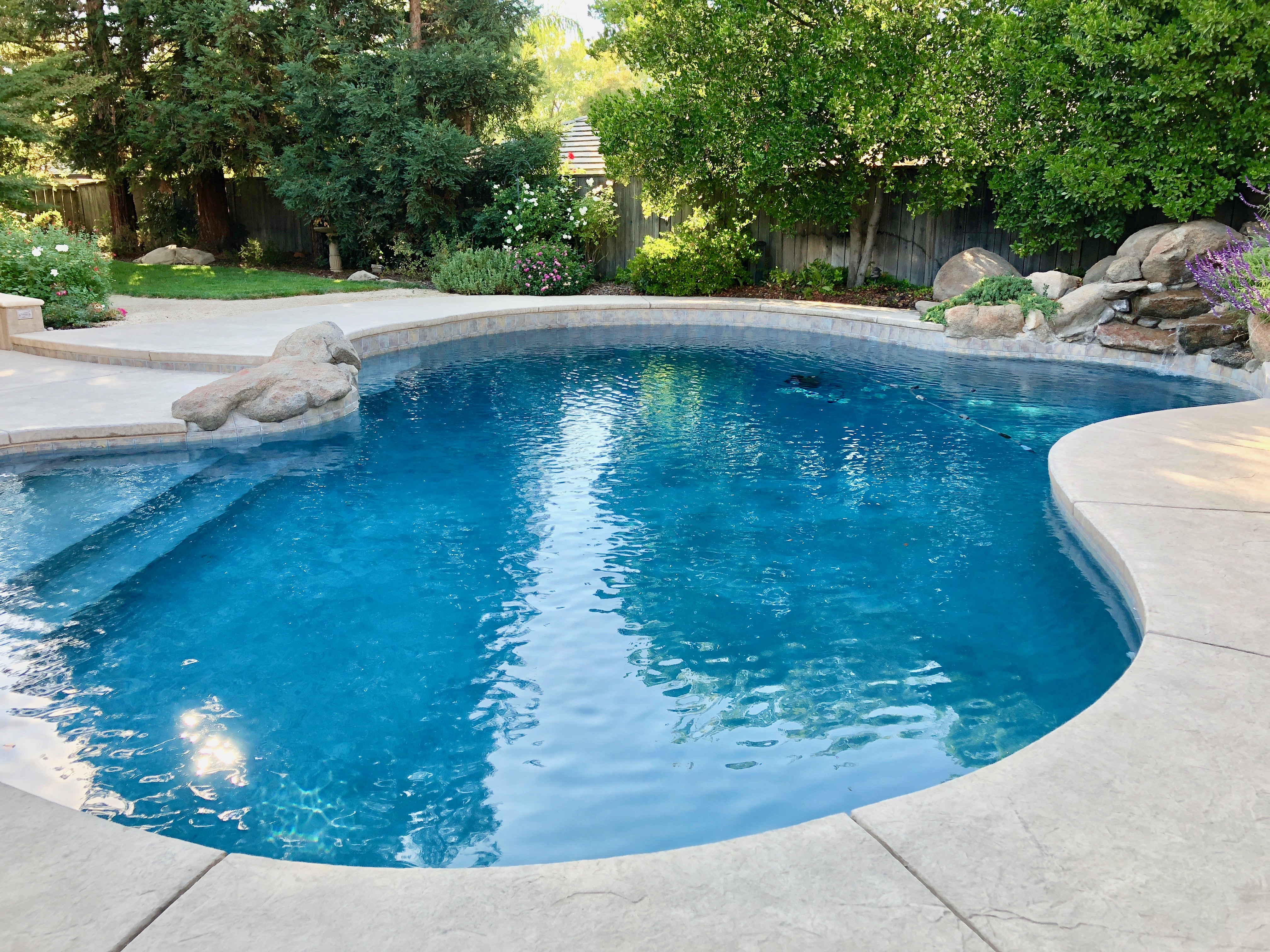 A Pool in the Backyard of a Home in Fresno, CA