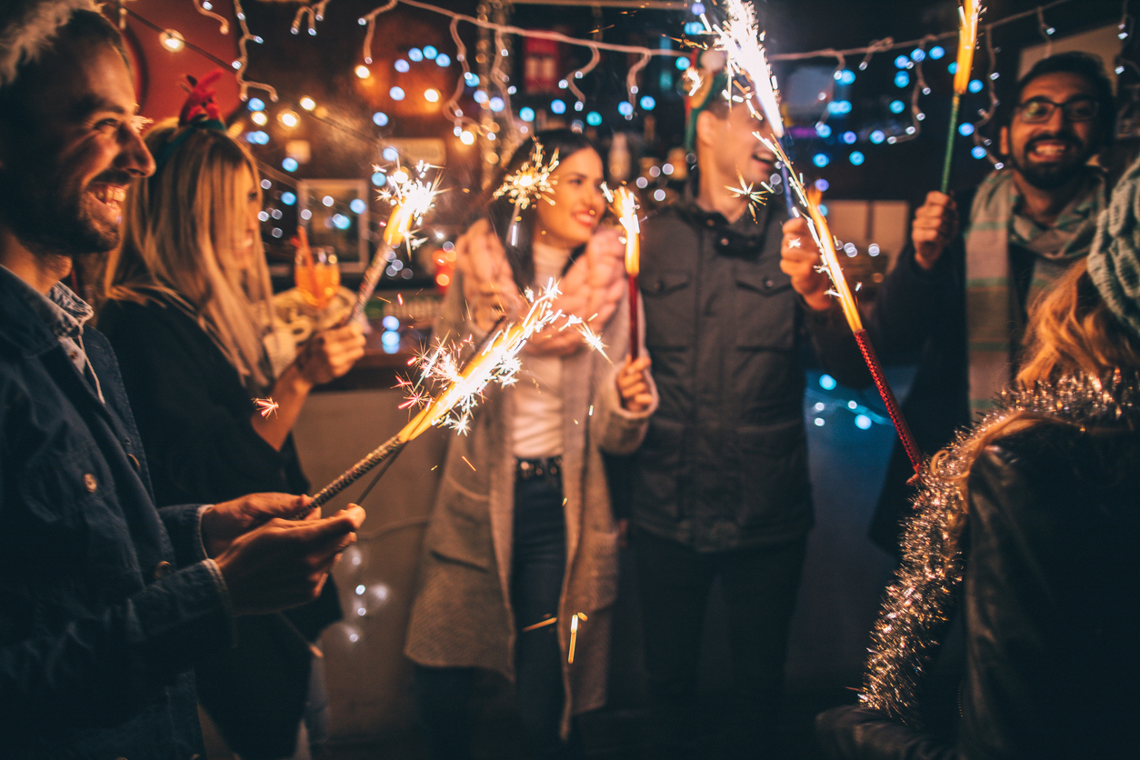Harlan Ranch Tenants Having Fun with Fireworks on New Year's Eve