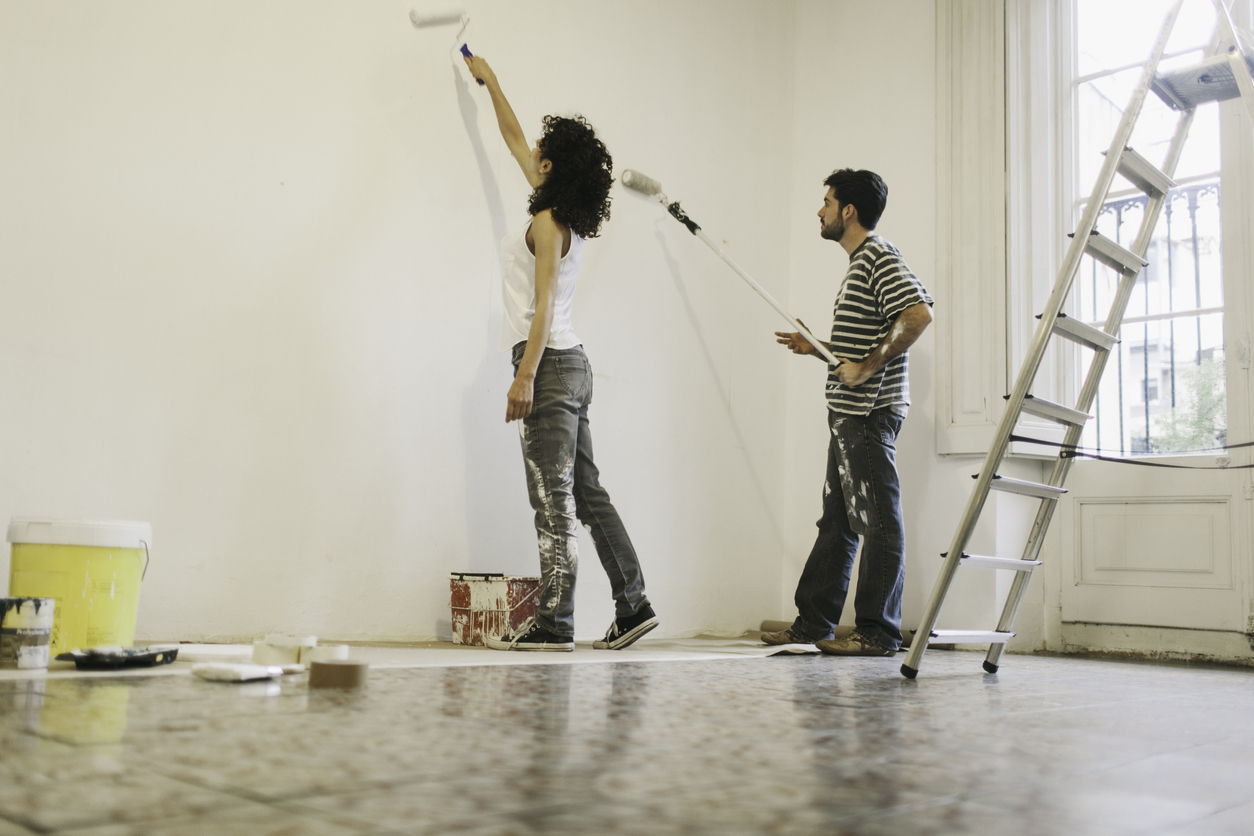 Tenants Adding a Fresh Coat of Paint in Their Fresno Rental Home