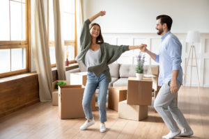 A Happy Woodward Park Couple Moving In