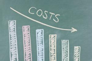 A chart of Temecula property maintenance costs decreasing