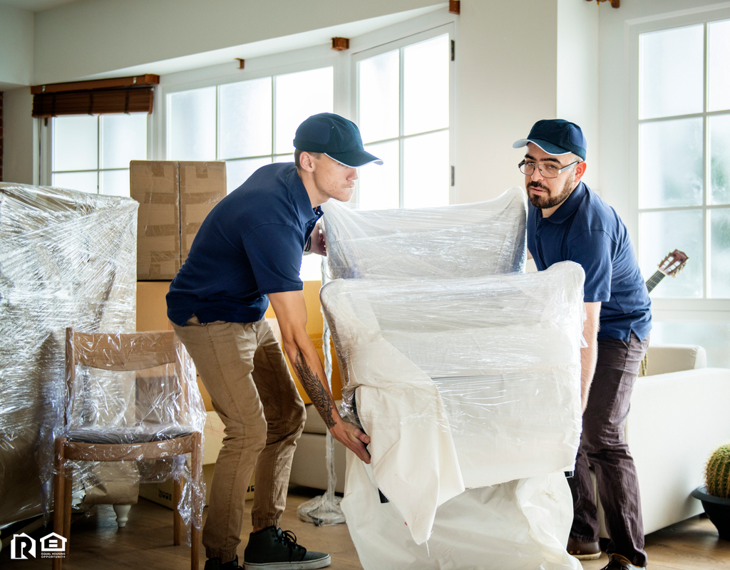 Men Moving Furniture into a New Pacific Beach Rental Home