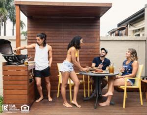 Sun City Tenants Enjoying the Deck in the Backyard