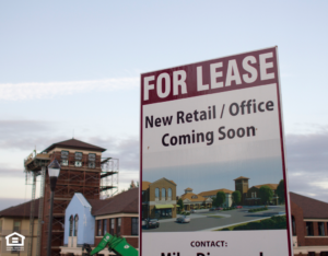 For Lease Sign at San Diego Commercial Property