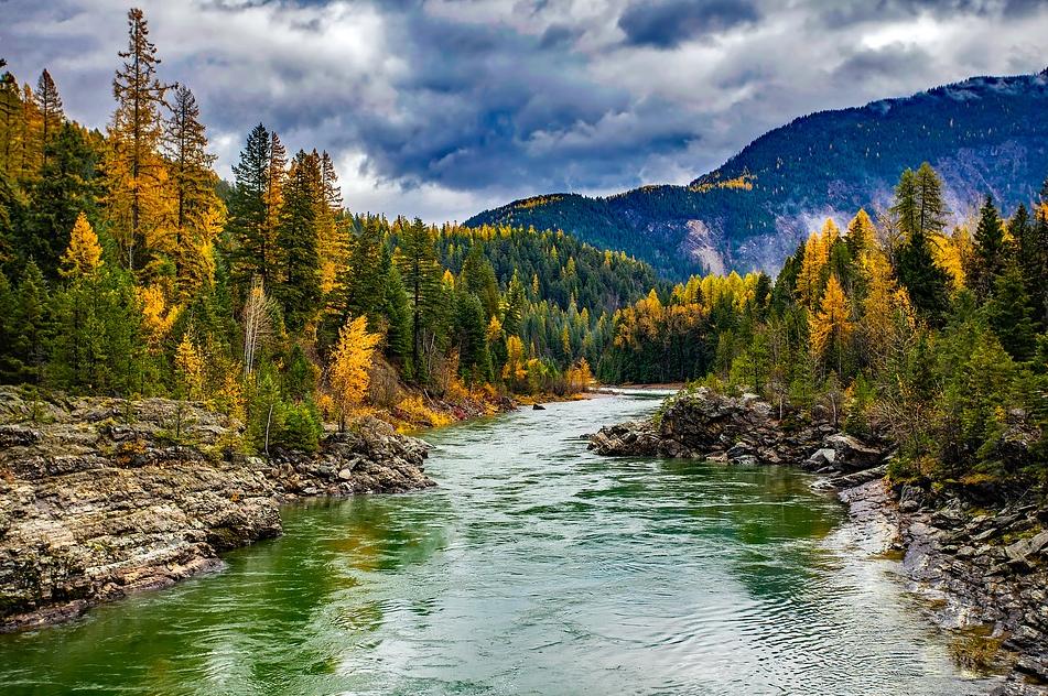 River Glacier National Park in Montana