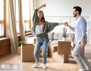 A Happy South Shore Couple Moving In