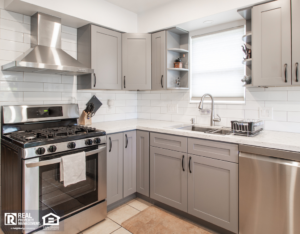 Burnet Rental Home Kitchen with Stainless Steel Appliances