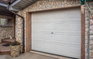 View of the Garage Door on a Roosevelt Rental Property