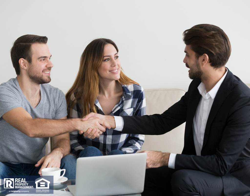 Tabiona Renters Shaking Hands with a Property Manager