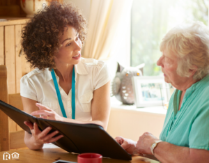 Huntersville Landlord Explaining the Lease to an Elderly Tenant