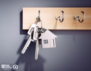 Keys to a Charlotte Rental Hanging on a Hook