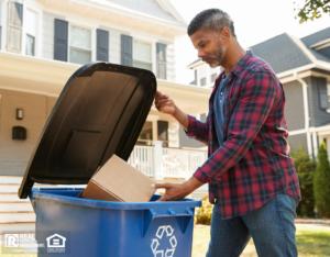 North Hollywood Tenant Recycling Cardboard