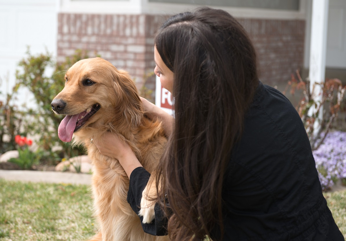 A Pleasanton Tenant Moving In to a Rental Home with her Emotional Support Animal
