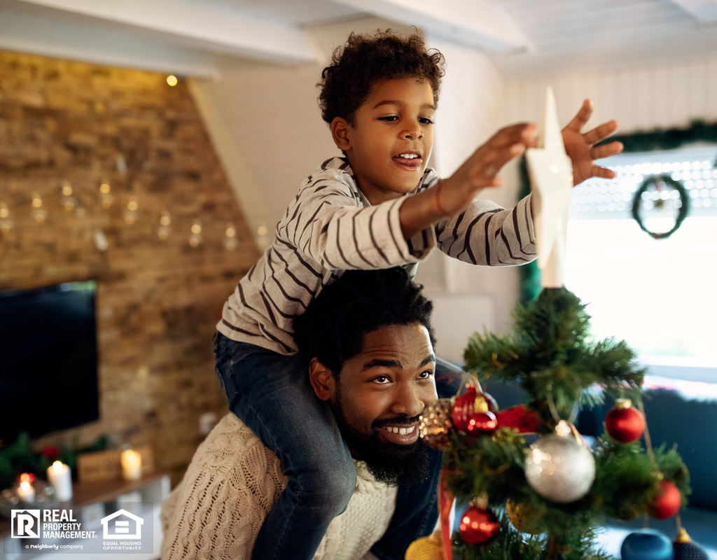 Pleasanton Family Decorating Their Christmas Tree