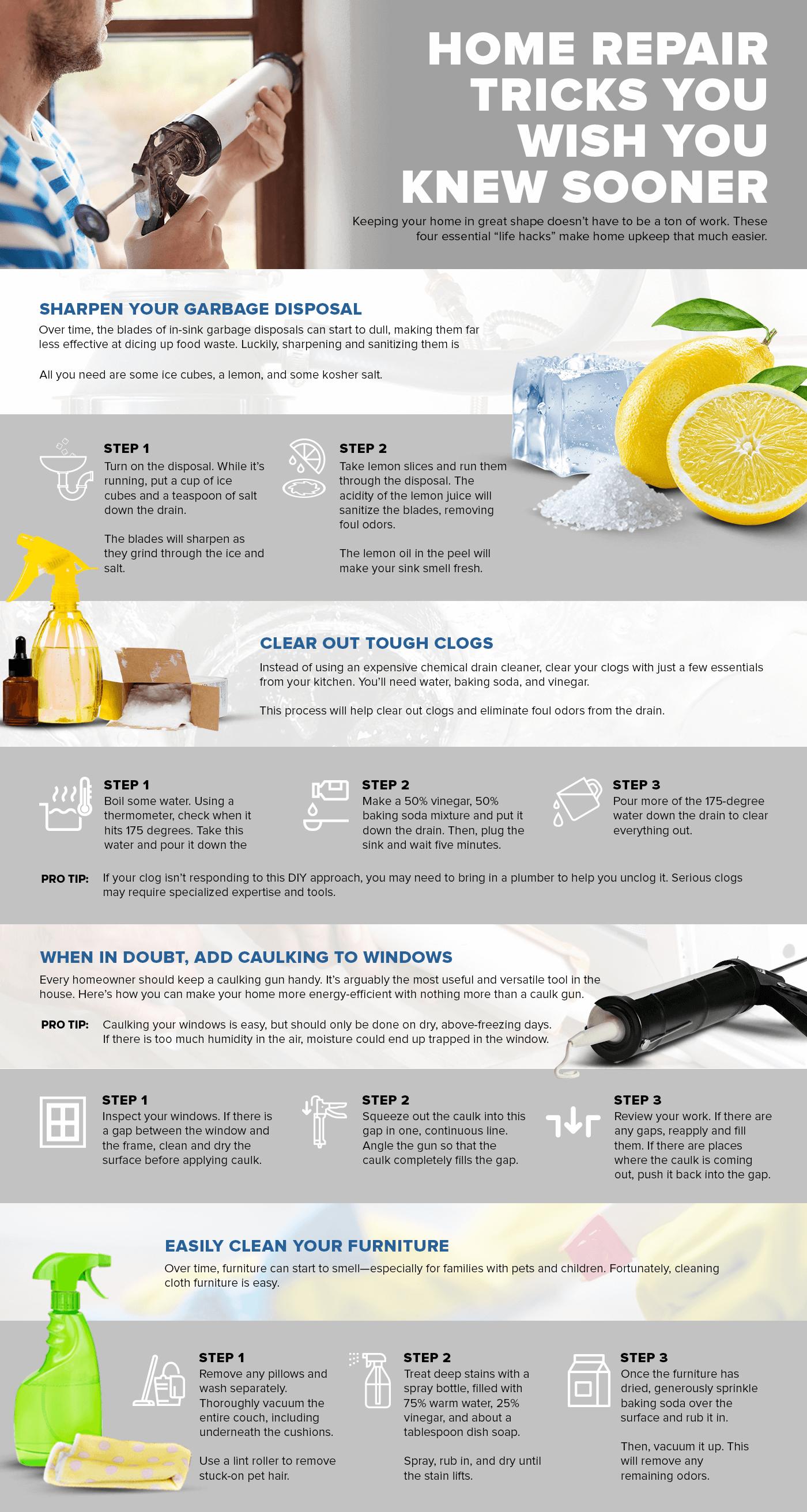 home repair tricks infographic