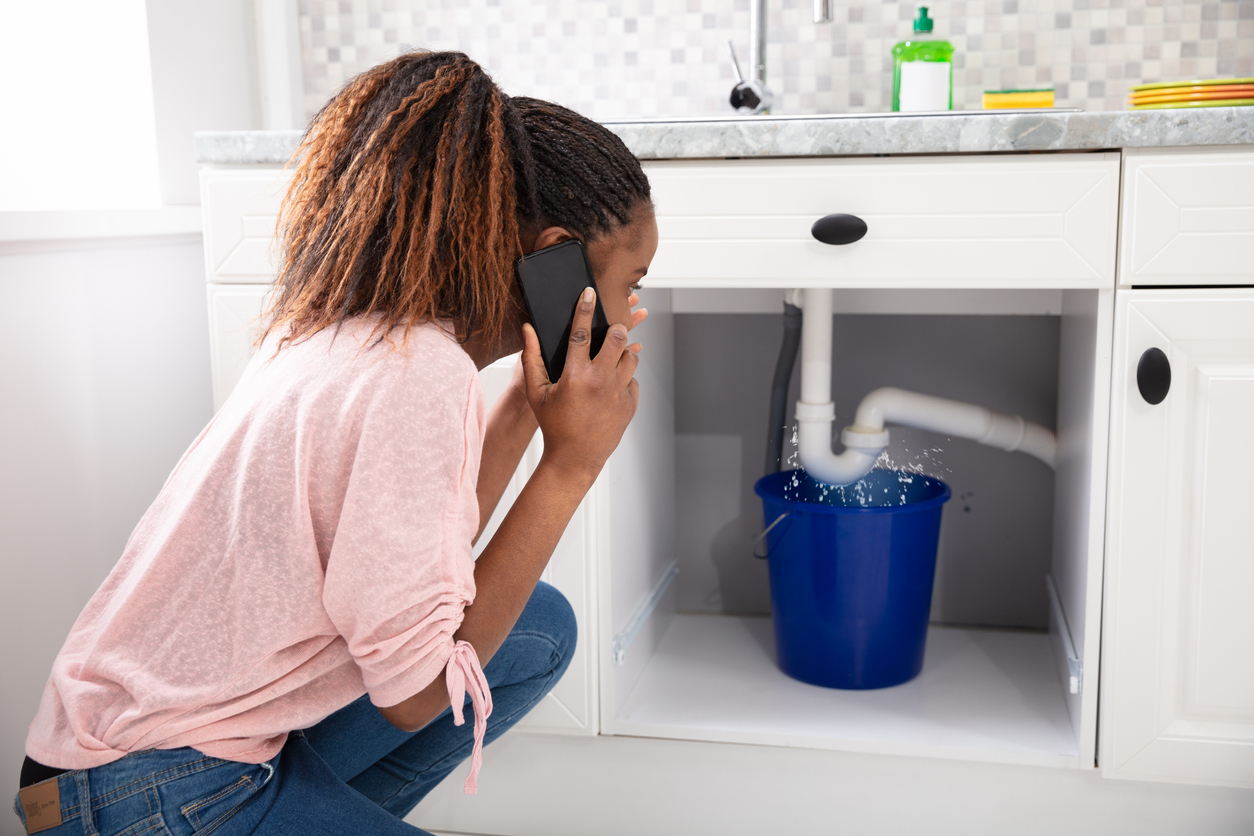 Pearland Woman Calling Landlord About a Leak