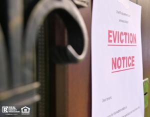 League City Eviction Notice On Door
