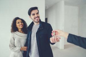 Dickinson Tenants Receiving Keys to their Rental