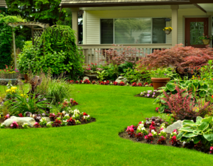 Omaha Rental Property with Perfectly Maintained Yard with Flower Beds