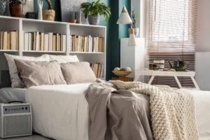 Small Bedroom Interior in a Ellicott City Rental Home