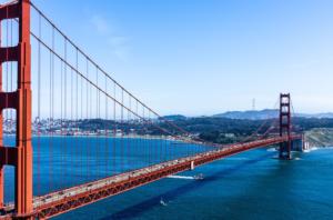 The Golden Gate Bridge in San Francisco CA