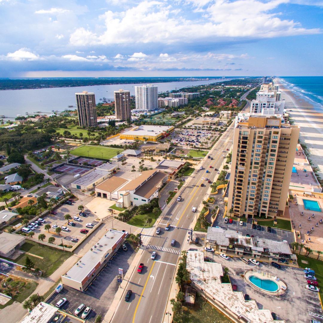Daytona Beach skyline near Deltona, FL
