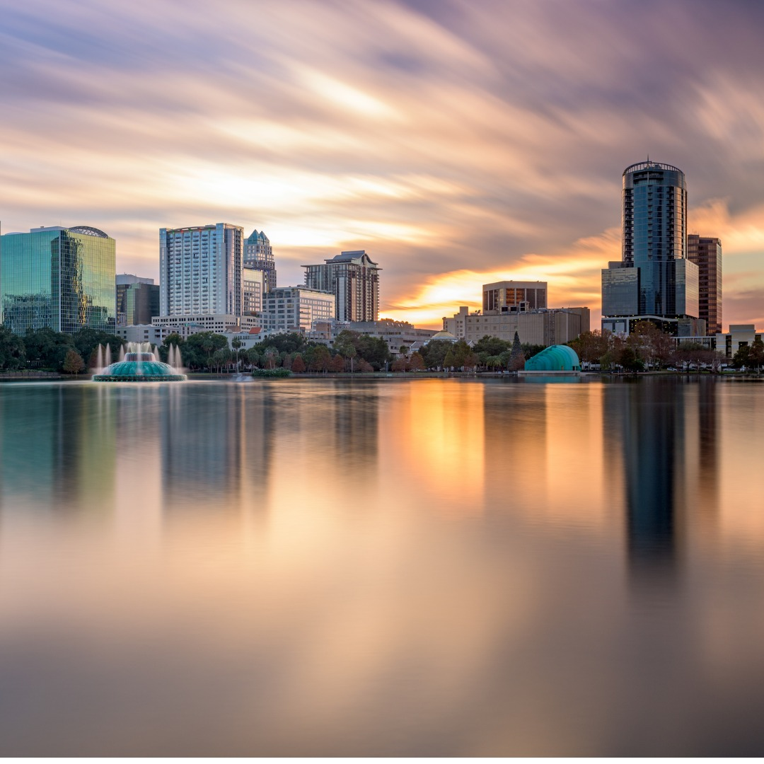 Orlando, Florida, skyline at dusk
