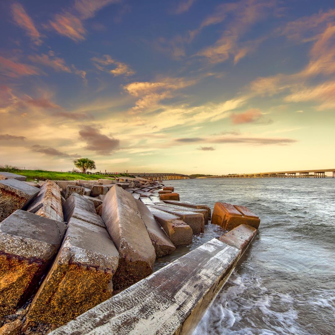 Off the coast of Amelia Island, Florida