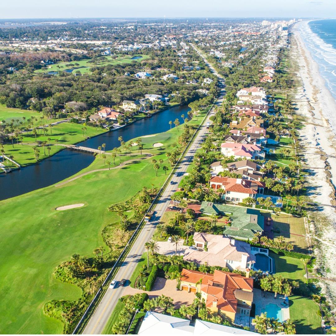 Aerial View of Ponte Vedra Beach, Florida