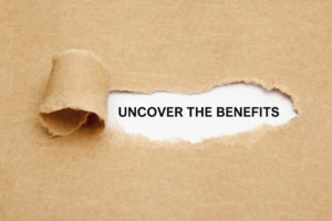 """Avondale property management document ripped open showing the words """"Uncover the Benefits"""""""
