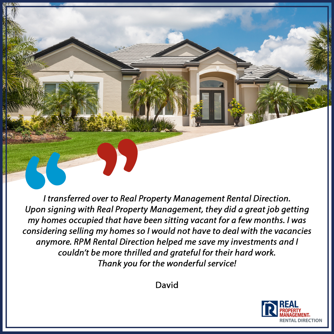 Homeowner Testimonial for RPM Rental Direction