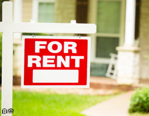 """Allen Rental Property with a """"For Rent"""" Sign in the Front Yard"""