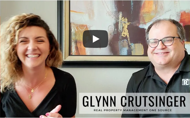 A screenshot of the interview between Glynn Crutsinger and Savannah Dunn about professional property management