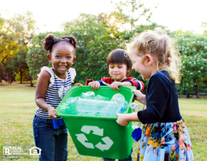 Group of Children Gathering Recyclable Items