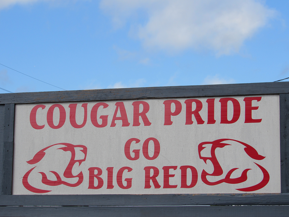 Crosby Cougar Pride Sign