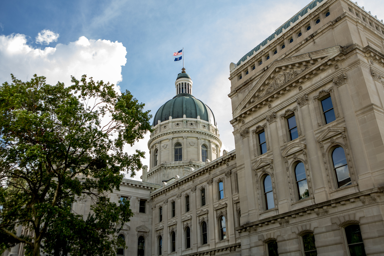 Indiana State Capitol Building on a Beautiful Day
