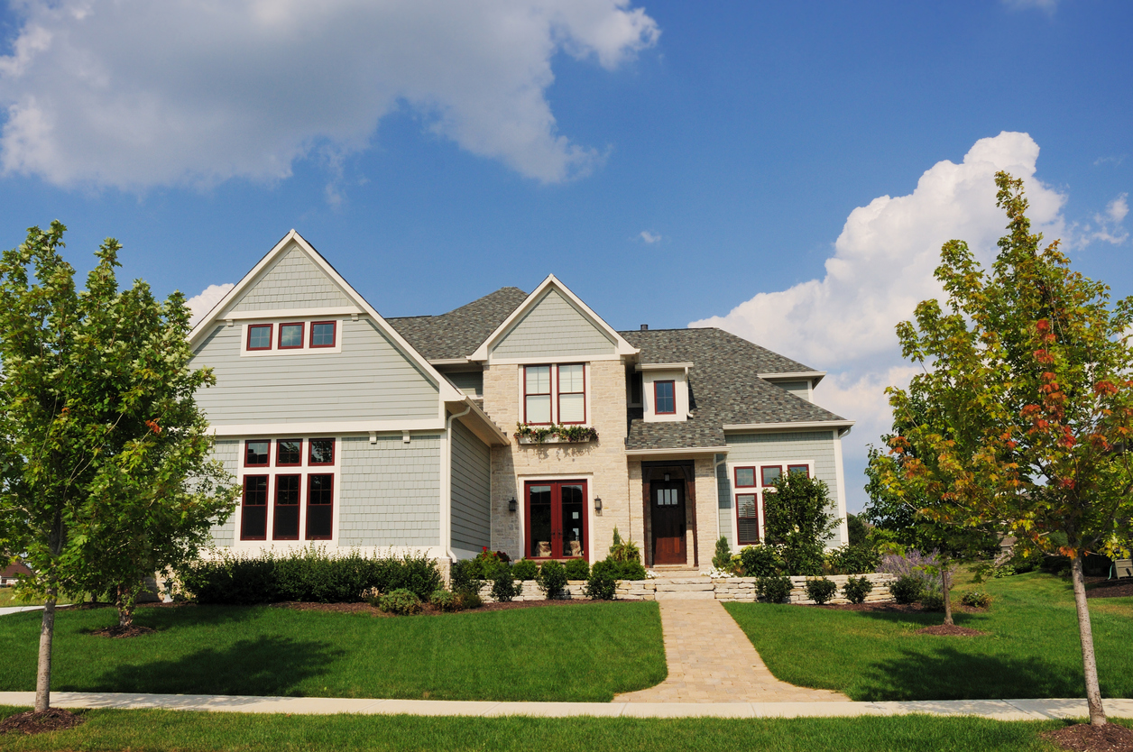 A luxury home in an upscale subdivision in the suburbs of Indianapolis, IN