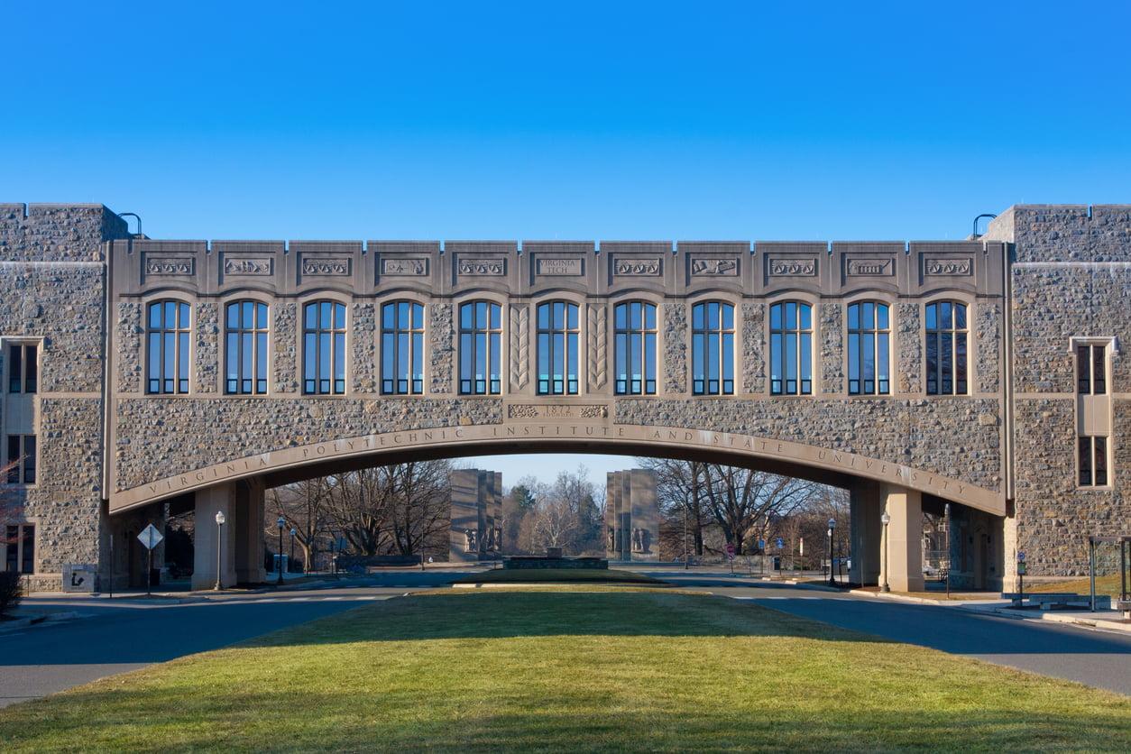 Torgersen Hall at the Virginia Tech Campus in Blacksburg VA