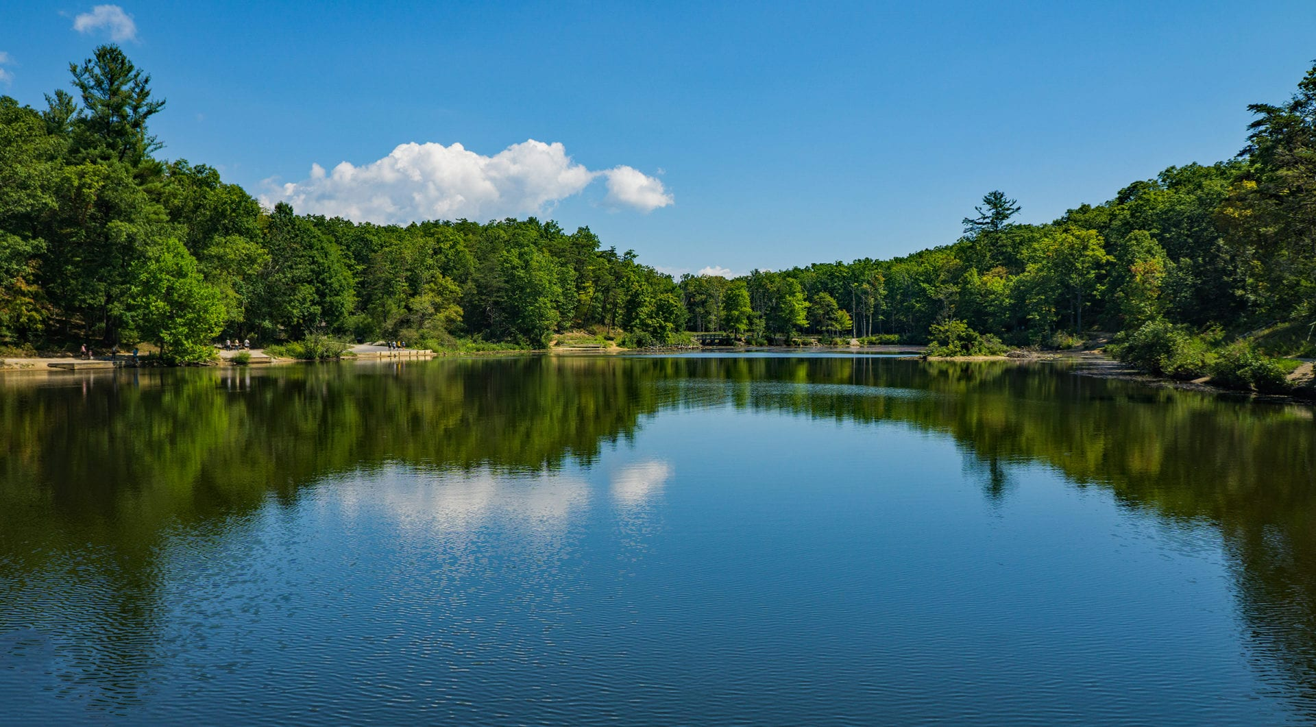 View of Pandapas Pond