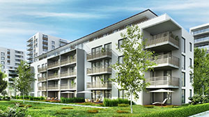 Van Buren Multifamily Housing Building in a Modern Neighborhood