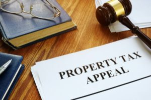 Hampden Property Tax Appeal on a Desk with a Gavel